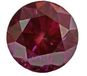 Lab created (man-made) red diamond