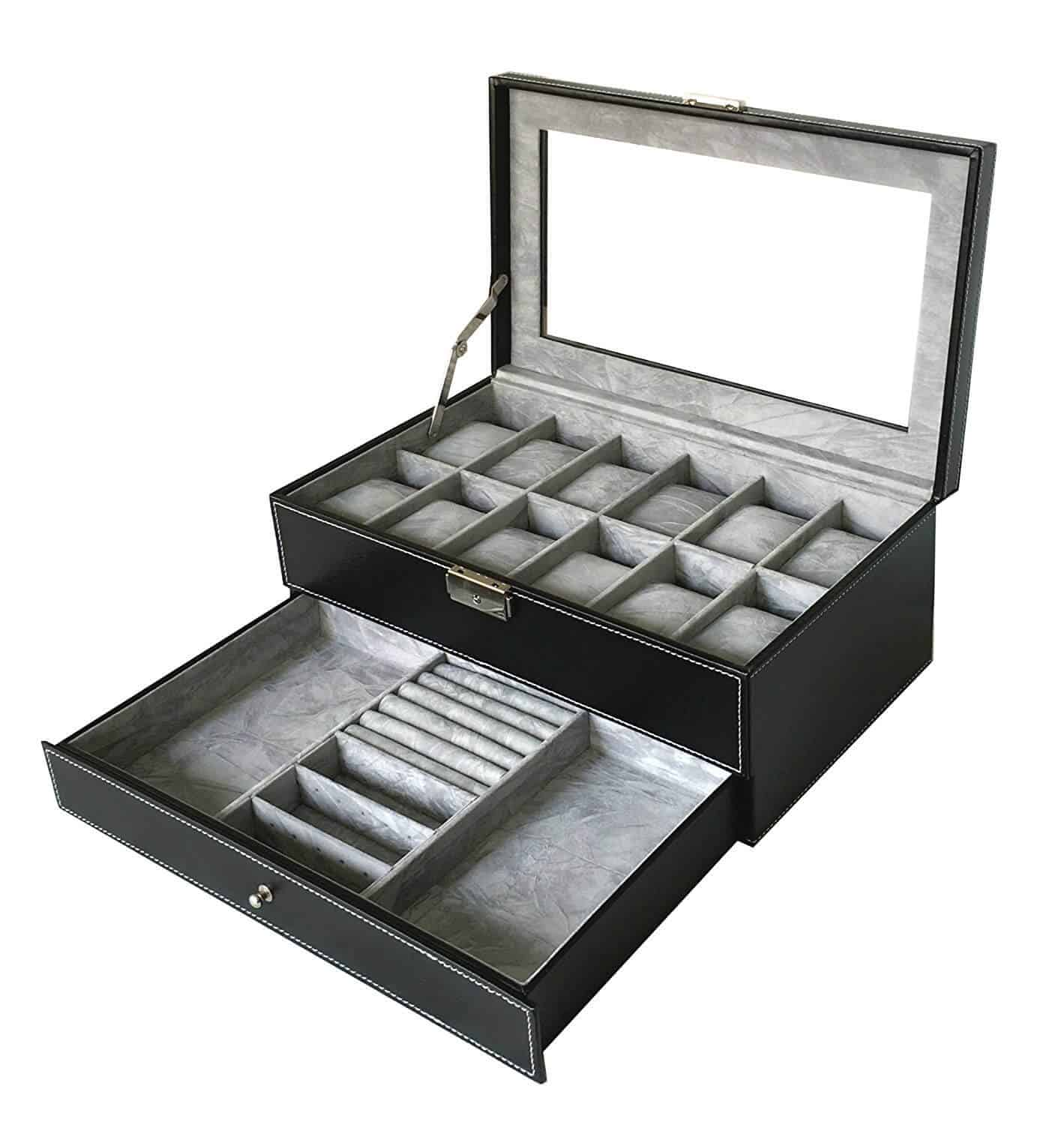 Sodynee 12 Compartment Jewelry Box Amazon Jewelry Guide