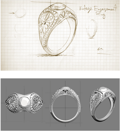 Design Enement Ring From Scratch Online | How To Design Your Engagement Ring From Scratch Jewelry Guide