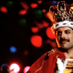 Freddie Mercury (Queen) wearing crown