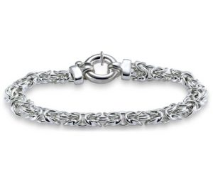 bracelet en argent sterling rhodié