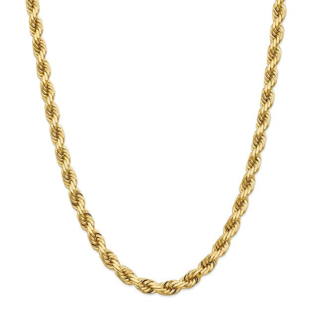 Solid yellow gold chain