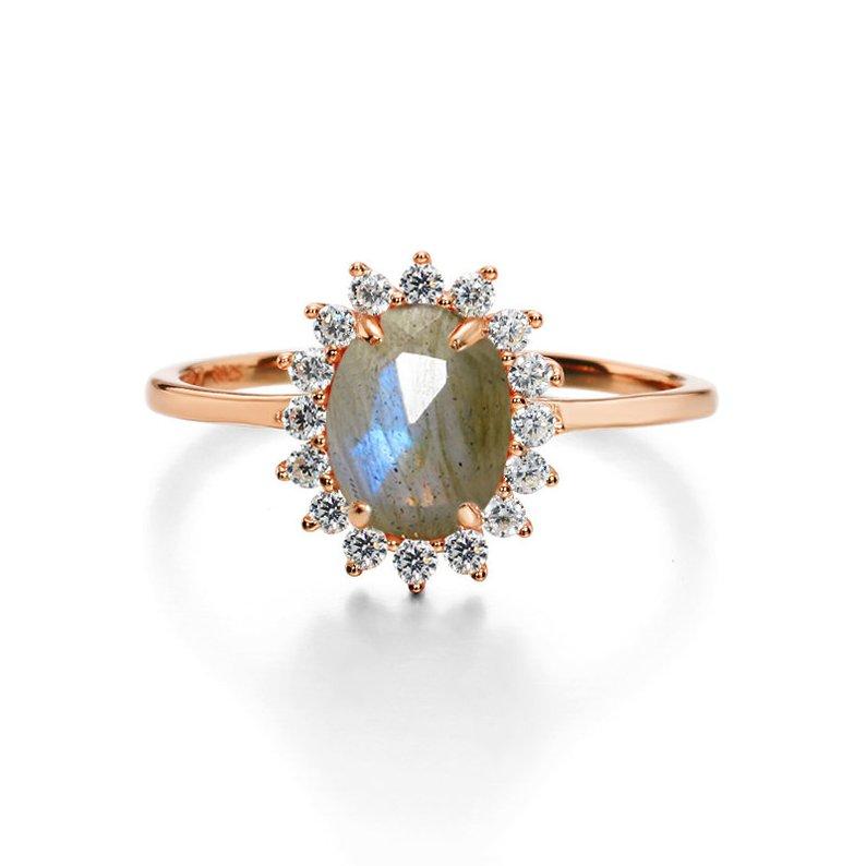 Sunburst Labradorite Engagement Ring Etsy Jewelry Guide