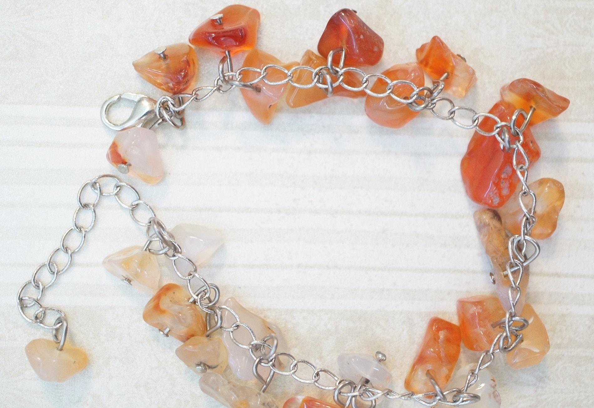 Earrings Bracelet Carnelian Necklace